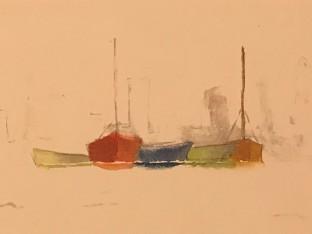 Boats Pastel