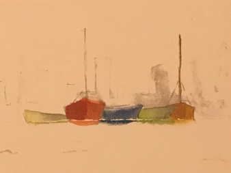 Boats Pastel