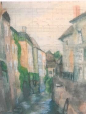 Houses Pastel