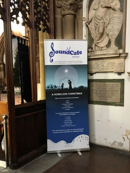 SCL Christmas Story Roller Banner displayed in the Cathedral 2017