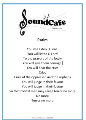 Psalm Poem