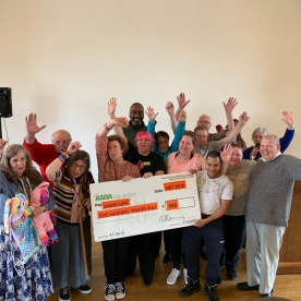 ASDA Cheque Presentation with guests 2019